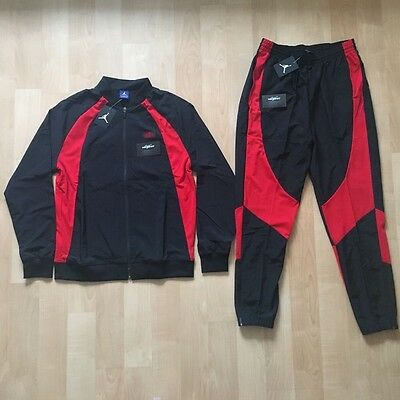 d0d8943337c Air Jordan 1 Wings Jacket And Pants Tracksuit Size L - Banned Satin Bred  Black