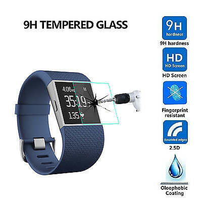 Premium 2.5D Tempered Glass Screen Protector Film for Fitbit Surge Smart Watch