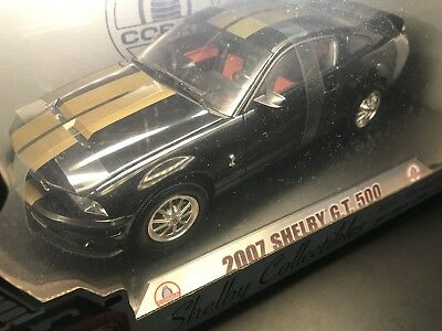 2007 Shelby Gt500 1/18 Black SHELBY Collectibles 40th Anniversary W/ Cobra Case