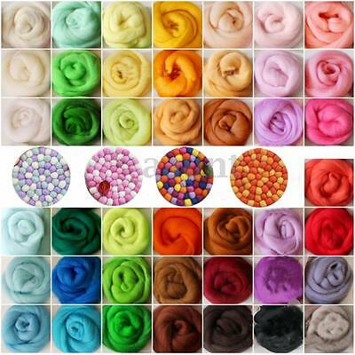 36 colors Merino Wool Fibre Roving For Needle Felting Hand Spinning DIY material