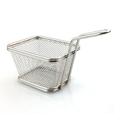 Durable Stainless Steel Mini Fries Frying Basket Fry Chip Potato kitchen Tool XC