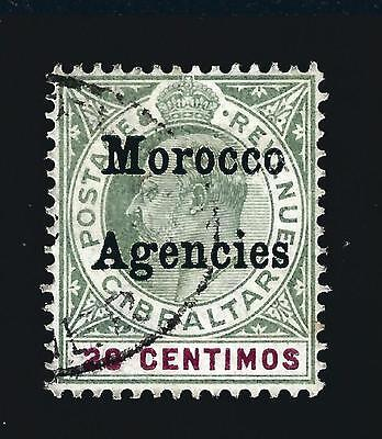 Great Britain Morocco (Scott 22A) F-VF Used Cat $210.00
