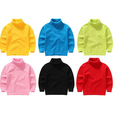 Autumn/Winter Knitted Turtleneck Boys/Girls Sweaters Baby Kids Pullovers