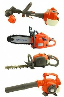 Husqvarna Kid Toy Set Lawn Equipment Package Line, Hedge Trimmer Chainsaw Blower
