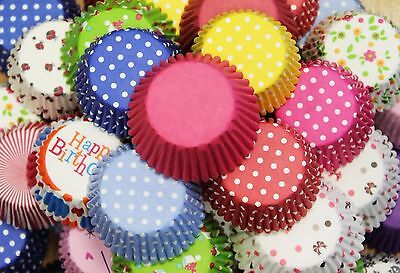 75 Piece Mixed Colour Muffin Cupcake Baking Cases