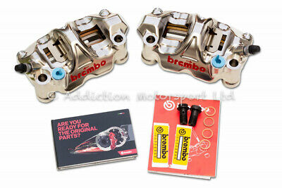 Brembo GP4-RX Front Brake Calipers 108mm with Pads - Kawasaki Suzuki - 220B01010
