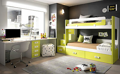 etagenbett hochbett kinderzimmer inkl stauraum treppe. Black Bedroom Furniture Sets. Home Design Ideas