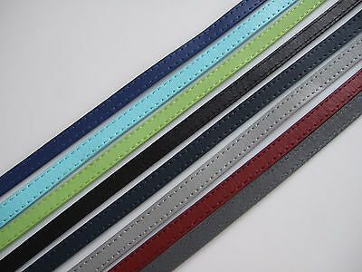 1 Meter High Quality 10mm Flat Stitched Leather Cord Strap For Jewellery Making