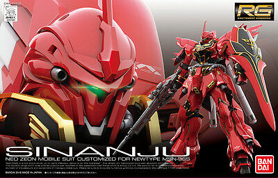 RG MSN-06S SINANJU 1/144 Gunpla Bandai Action Figure Real Grade Gundam Unicorn