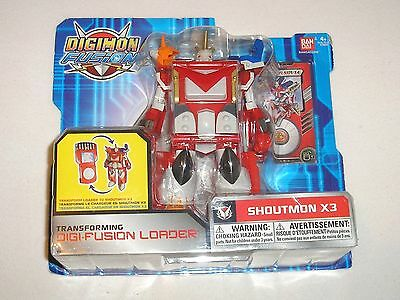 Digimon Figur Transforming Digi-Fusion Loader Shoutmon X3 OVP Bandai Fusion