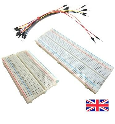 New Quality Breadboard 400 - 830 hole - Optional X15 Jump wires - Free Postage
