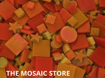 Mixed Orange Tile Colour Packs - Mosaic Art & Craft Supplies