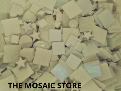 Mixed White Tile Colour Packs - Mosaic Art & Craft Supplies
