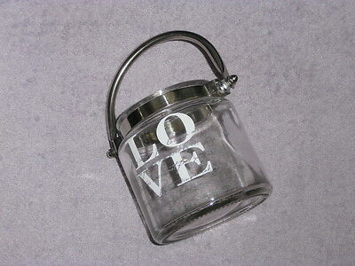 Gorgeous 'LOVE' script Handle Jar for candles