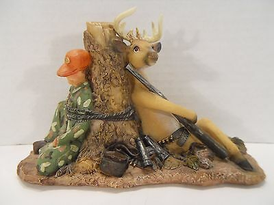 8-Point Buck Deer Hunter Figurine ~ Funny Comical Role Reversal
