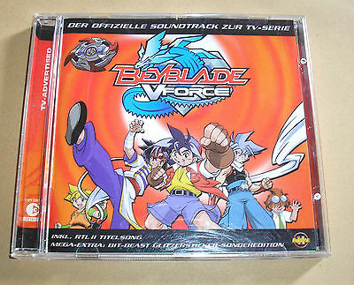 Beyblade VForce Soundtrack V Force CD 14 Lieder Songs + Sticker Anime Manga