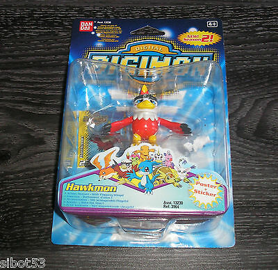 Digimon Figur Hawkmon mit Funktion + Poster + Sticker OVP