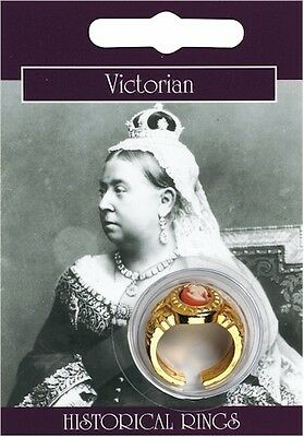 Victorian Gold Plated Cameo Ring - Fancy Dress Ladies Decorative Vintage