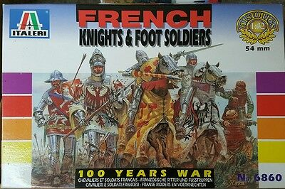Italeri #6860 54mm French Knights & Foot Soldiers