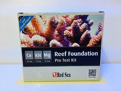Red Sea  Reef Foundation Pro Test Kit - Calcium Ca Magnesium Mg KH Marine Reef