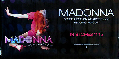 "Rare Madonna Confessions On A Dance Floor Maverick Banner Promo Poster 12"" X 24"""