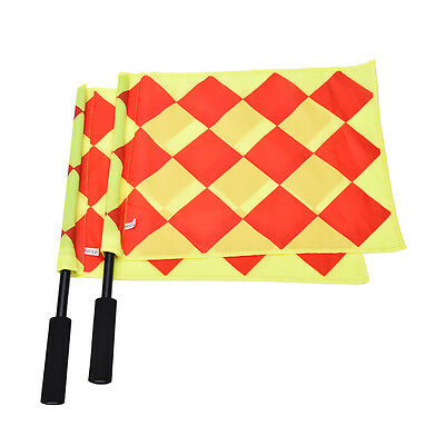Soccer Referee Flag Fair Play Sports Match Linesman Flags Referee+Carry Bag TSUS