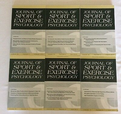 Journal Of Sport & Exercise Psychology 6 Issues (PB)- Like New