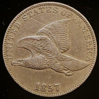 1857 Flying Eagle Cent,~~Choice EF++** Free Shipping!