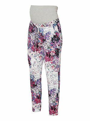 Mamalicious Maternity 'evely' Multi Print Jersey Leggings Trousers All Sizes New