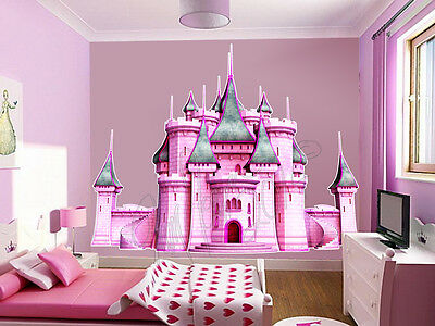 ... Disney Giant Princess Castle Wall Mural Stickers Vinyl Decals Pink Room  Decor ...
