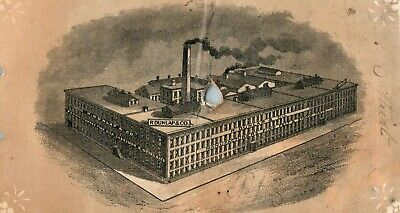1870s-80s R. Dunlap & Co Factory Scene & Calendar Victorian Trade Card F18