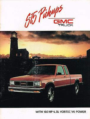 1989 GMC S-15 PickUp Truck Brochure with Color Chart: HIGH / SIERRA CLASSIC,S15,