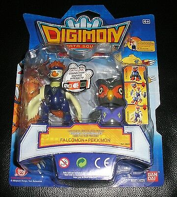 Digimon Falcomon digitiert zu Pekkmon OVP Digivolving Figur Evolution