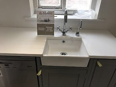 PURE WHITE| QUARTZ  KITCHEN WORKTOP| Affordable Prices |All colours Available