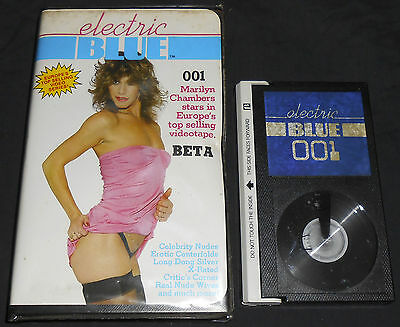 ELECTRIC BLUE #1 - BETA - not VHS Video Magazine R rated Men's Interest softcore