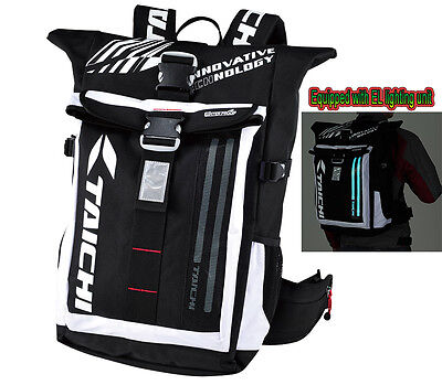 RS TAICHI RSB272 Motorbike Waterproof Outdoor 25L Back Pack with EL