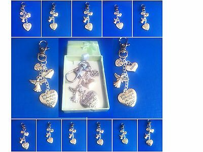 FRIENDS AND RELATIONS IN MEMORY clip on charm, choice of 60+. GIFT BOX optional.