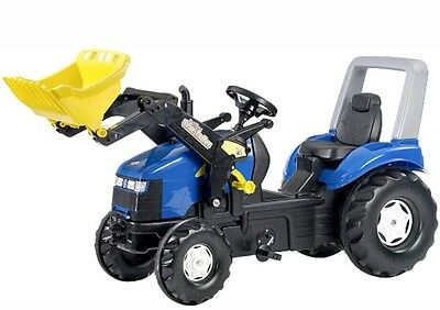 Rolly Toys - X-TRAC NEW HOLLAND XL Ride on Pedal Tractor & Trac Loader Age 3-10