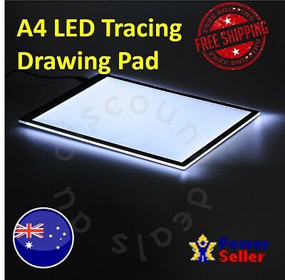 A4 Tracing Drawing Pad LED Light Panel Backing USB Powered Art Craft Draw Pads