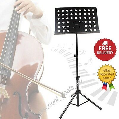 Music Lecture Stand Reading Stand Notes Lecturn Sheet Holder Adjustable Black