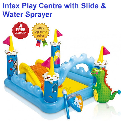 Inflatable Water Play Centre Swimming Pool Water Slide Sprayer Kids Activity NEW