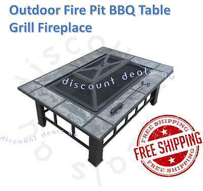 NEW Backyard Fireplace Firepit Outdoor Patio Heater Fire Pit BBQ Grill Table Top