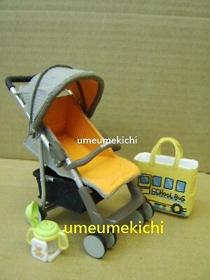 RARE Re-ment dollhouse miniature baby stroller bag cup 2007