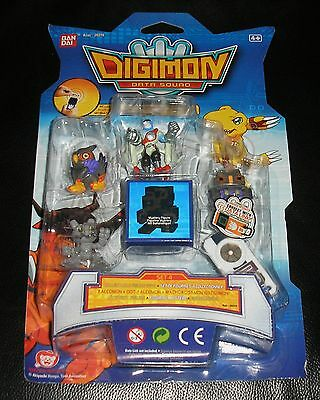Digimon Data Squad 5 Figuren Set 4 Dot Falcomon Machgaogamon Gotsumon OVP