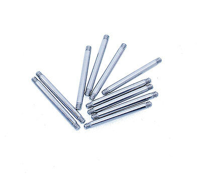 Wholesale PACK OF 10 SURGICAL STEEL BARS-6mm to 50mm bar length body piercing