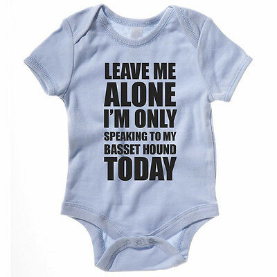 SPEAKING TO MY BASSET HOUND - Dog / Pet / Gift Idea / Funny Themed Baby Grow