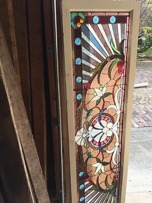 An #2 Amazing Antique Combo Window Victorian Stain Jeweled Beveled Keeper