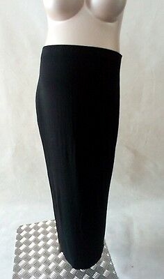 [505] George Maternity Black Jersey Style Long Skirt Size 18