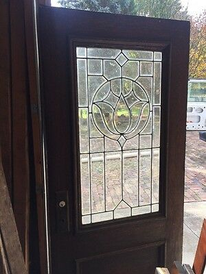 An For Antique All Beveled Glass 36 Inch Entrance Door