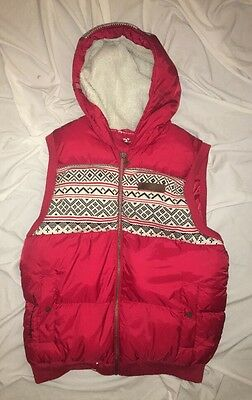 Men's DOWN VEST LRG Equipment for Life RED SKI VEST FLEECE LINED HOOD XL